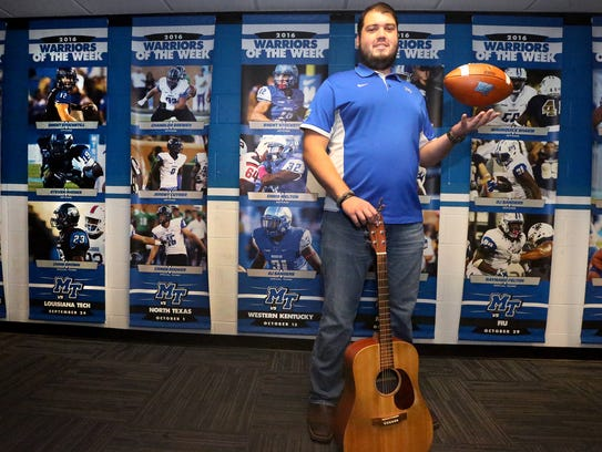 MTSU's football player Hunter Rogers also plays music