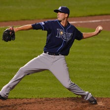 Drew Smyly struck out six and walked one in his fifth start for the Rays since coming from Detroit in a trade involving David Price.
