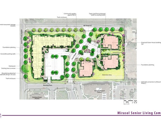 The map above shows the Phase 3 plans for the Mirasol community, including new Green House homes.