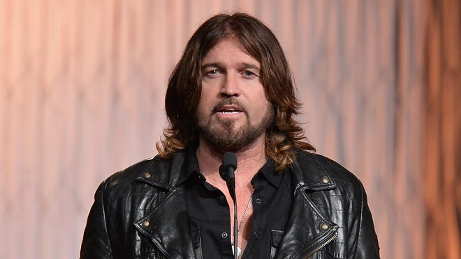 Billy Ray Cyrus speaks at the  Movieguide Awards Gala on Feb. 7 in Universal City, Calif.