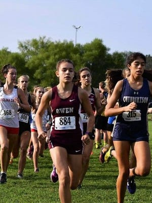 Owen freshman Hannah Larios earned a spot on The Asheville Citizen-Times All-WNC cross country team for her performance in the 2017 season.