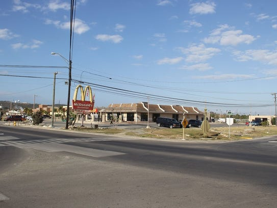 McDonald's is located in the center of downtown Gitmo.