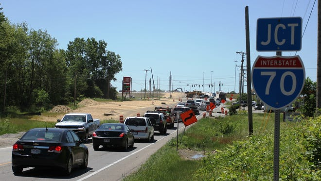 The I-70 WB off-ramp to state route 79 will be closed to traffic for paving from noon to 5 p.m. on Wednesday, June 13.