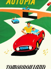 An original poster for Disneyland's Autopia is expected