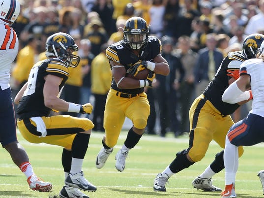 NCAA Football: Illinois at Iowa