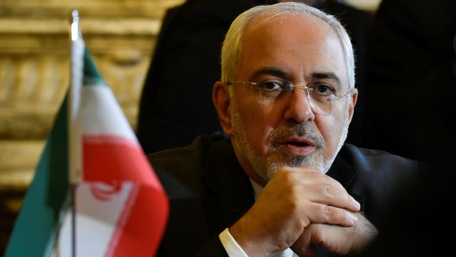 Iran Foreign Minister Mohammad Javad Zarif Khonsari before a meeting in Brussels on Jan. 11, 2018, to discuss the Iran nuclear deal.