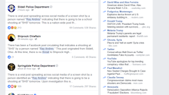 A screenshot on Facebook shows the multiple reports