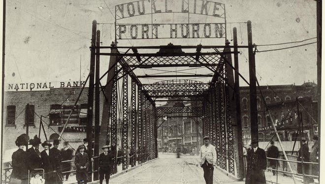 You'll Like Port Huron. This sign apparently stood above the third Military Street bridge from 1883 to 1912.