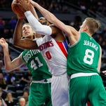 Celtics win in Detroit on Horford's follow in final seconds