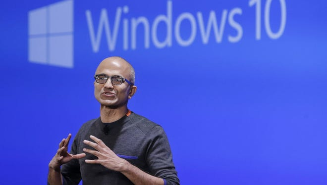 Microsoft CEO Satya Nadella sees broad Windows 10 adoption as critical to the company's success in a mobile-first world.