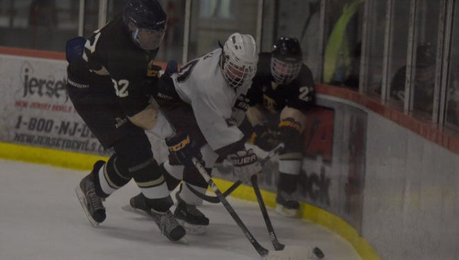 Tony Zambito (center) scored on a power play for Ridgewood against St. Joseph.