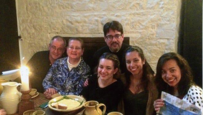 Robert Iannone, Tracey Iannone, Elise Miguel, Angel Miguel, Grace Miguel and iana Laucello-Miguel.