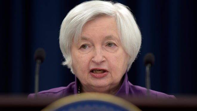 In this Wednesday, June 14, 2017, file photo, Federal Reserve Chair Janet Yellen speaks in Washington, to announce the Federal Open Market Committee decision on interest rates following a two-day meeting. On Wednesday, July 5, 2017, the Federal Reserve releases minutes from its June meeting, when it raised its key interest rate for the third time in six months.