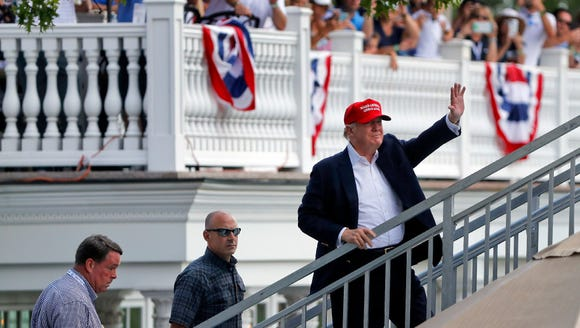 President Trump returned to his Trump National Bedminster