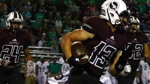 Tristan Canales and Sinton hung with state-ranked Cuero for more than two quarters before big plays ended the upset bid.