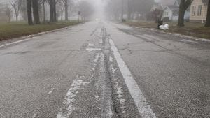 Residual moisture freezing on streets could cause black ice.
