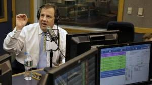 Governor Christie taking to the airwaves.