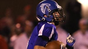 Amherst quarterback Marcus Glodowski has helped the Falcons to a 2-0 start in conference play.