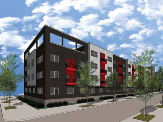 Hubbell Realty Co. plans to build a 111-unit apartment complex called VUE at Eighth and Crocker streets in downtown Des Moines.