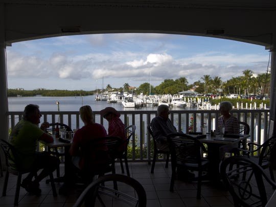 The Lighthouse Restaurant at Port Sanibel Marina is a popular place to stop for a bite to eat while boating.  Lee County commissioners have rejected a proposal for a larger marina at the entrance to Connie Mack Island, but another proposal may be coming.