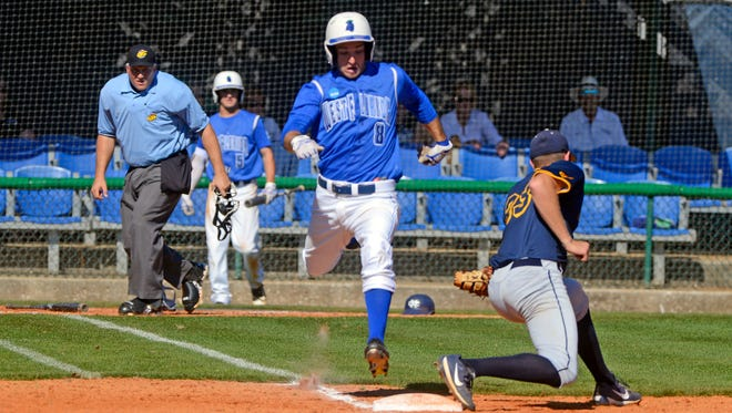 Catholic High grad Chase Kiefer, shown running to first in an earlier UWF baseball game this season, helped the Argos to a 4-1 win Wednesday night over AUM in Montogmery, Alabama.