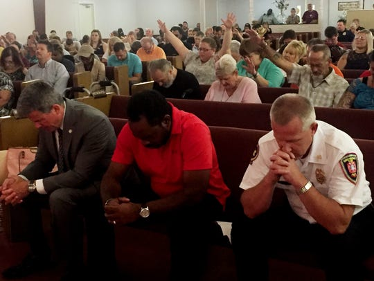Several elected officials  attended a city-wide prayer