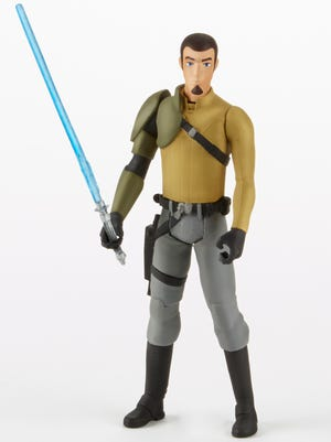 "Various characters from the upcoming animated series ""Star Wars Rebels,"" including Kanan, will star on toy shelves this fall."