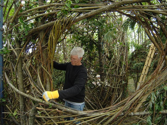 Patrick Dougherty at Sculpture in the Parklands Lough Boora, County Offaly, Ireland. Dougherty will do a 3-week residency artist at the Blackfoot Pathways: Sculpture in the Wild in Lincoln.
