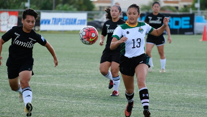 UOG Women's Soccer play at the GFA National Training Center