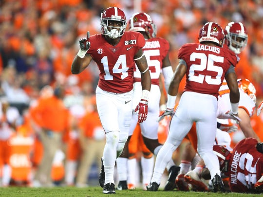 Alabama safety Deionte Thompson is working out with the team.