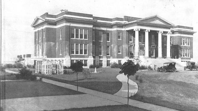 "Shawnee Hall on the OBU campus was a ""beacon of learning"" in Shawnee in 1926."