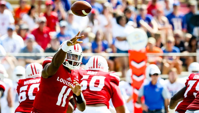 UL's Anthony Jennings, shown here throwing against Boise State earlier this year, likes the potential of the Cajun offense.