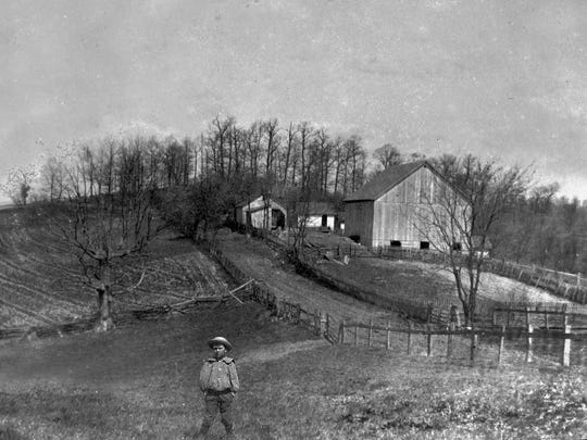 Willis Hill Farm in McConnelsville in an undated family photo.