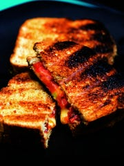 Fresh grilled tomato and cheese sandwiches are perfectly crunchy and smoky.