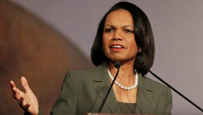 Former secretary of State Condoleezza Rice says she will not speak at Rutgers University's commencement ceremony.