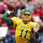 North Dakota State quarterback Carson Wentz is reportedly being considered as the No. 1 overall pick in the upcoming NFL draft.