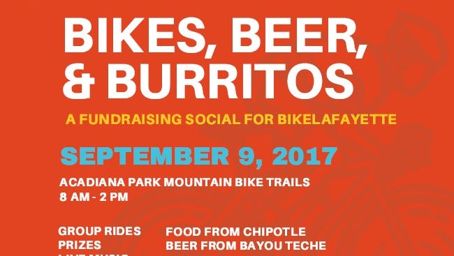 On Saturday, Bikes, Beers, and Burritos will kick off at 8 a.m. with group rides and continue with a party celebrating the all aspects of the cycling community.