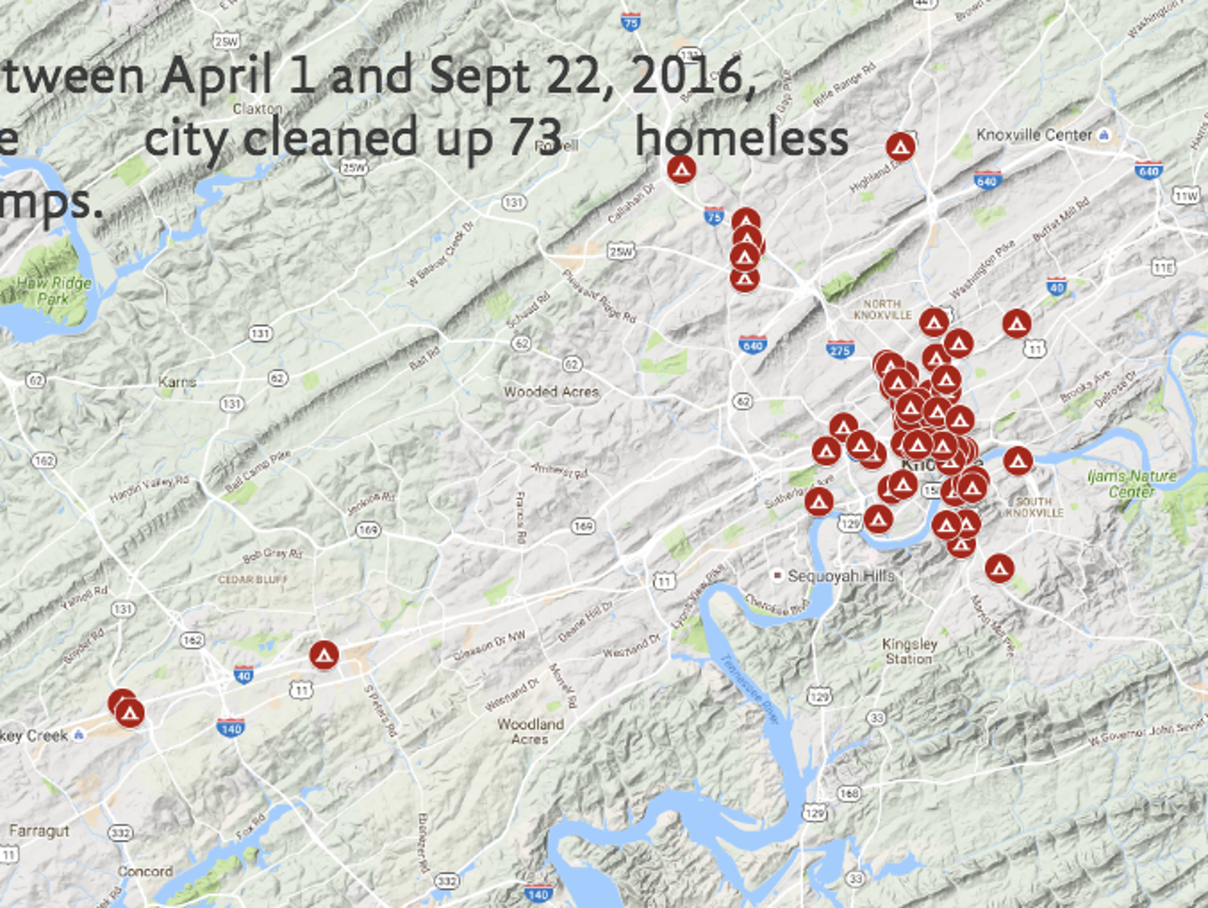 Homeless Camps In The Knoxville Area