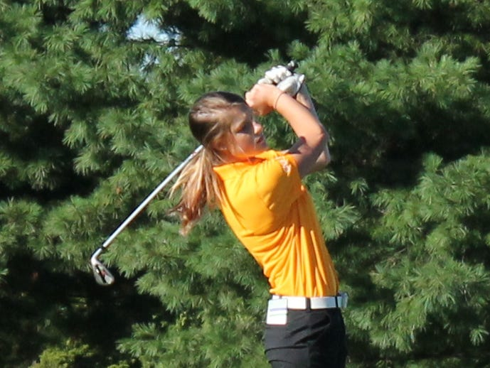 Kickapoo's Ari Acuff finished the first of two rounds in the 2015 Class 2 state championship golf tournament in second place.