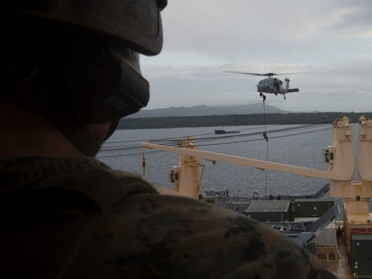 Force Recon conducts air assault in Guam
