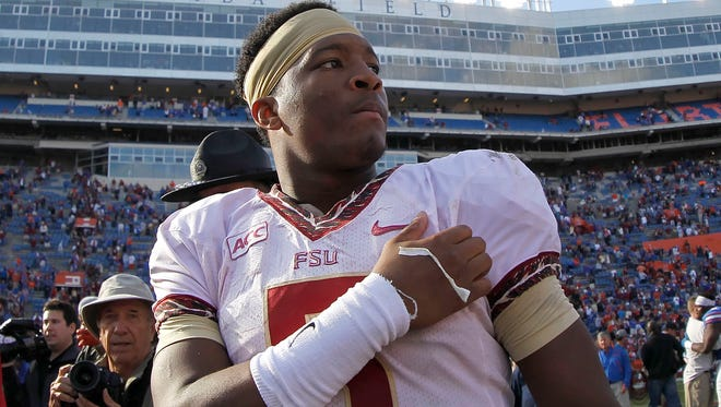 Jameis Winston after Florida State beat Florida in Nov. 2013.