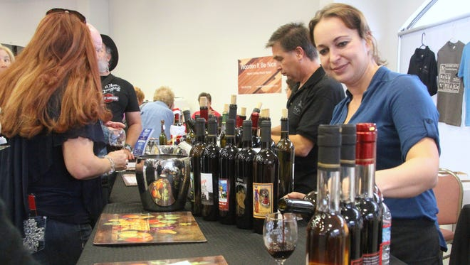 The Don Quixote Distillery and Winery in Pojoaque near Santa Fe was one of the nine wineries at the Winter Wine Festival on Friday and Saturday. In addition to wine, they also were selling homemade vanilla extracts.