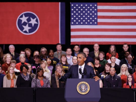 President Obama speaks at Pellissippi State Community