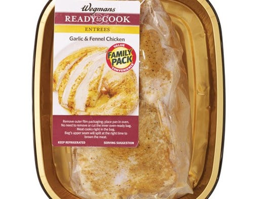 Wegmans Garlic & Fennel Whole Chicken Roaster, in vacuum-sealed