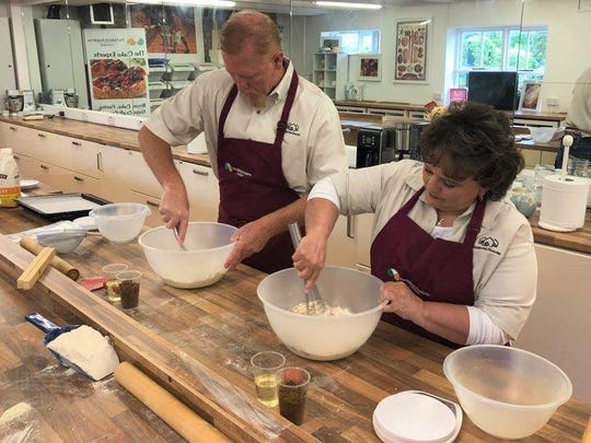 Brian and Karen Massey at the Baking Academy of Ireland during their free trip provided by 23AndMe.