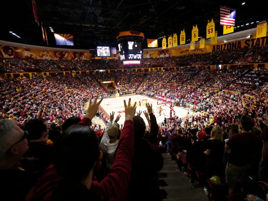 Arizona State fans fill Wells Fargo Arena for a game