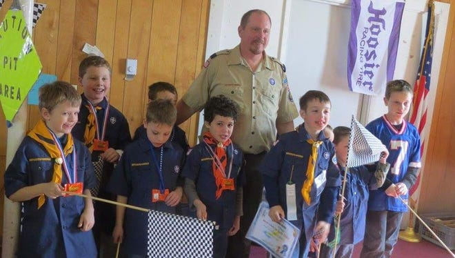 Groton Cub Scout Pack No. 10 at last year's Pinewood Derby.