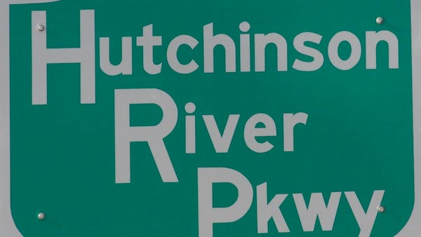 Hutchinson River Parkway road sign