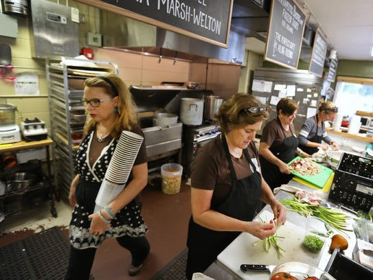 Staff at La Soupe in Newtown (from left: Debbie Moran,