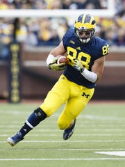 Michigan tight end Jake Butt.